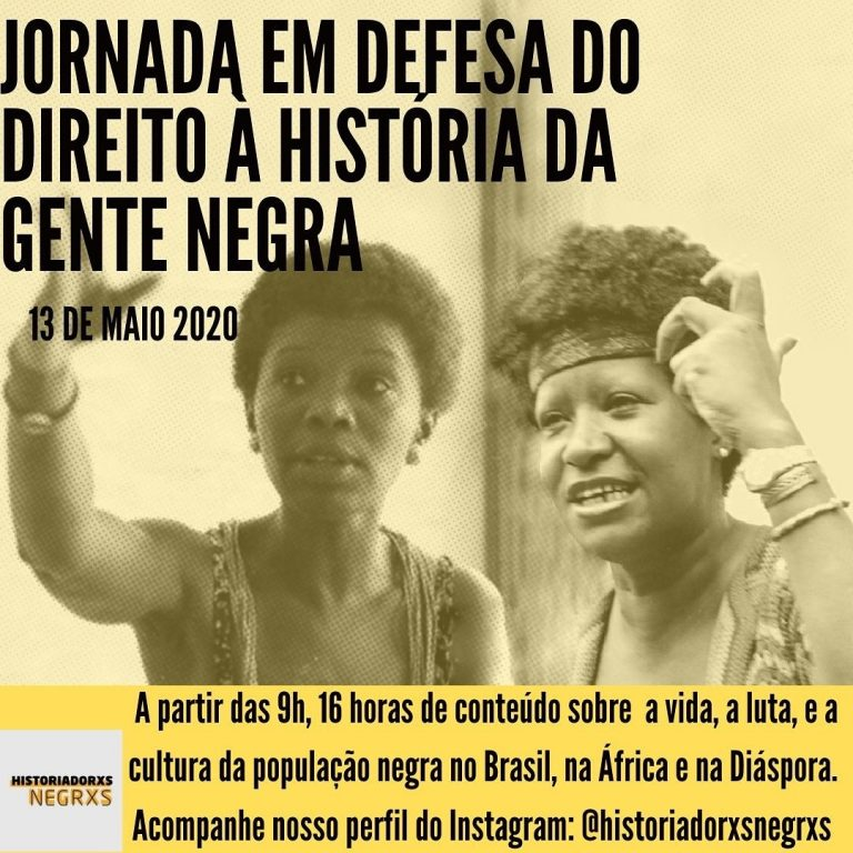 Jornada em Defesa do Direito à História da Gente Negra 16 Horas de Conteúdo sobre a População Negra no Brasil e na África e na Diáspora